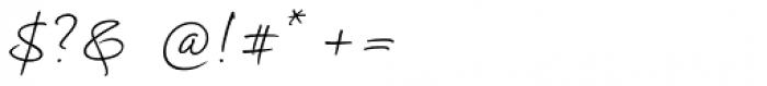 Kalli Hand Regular Font OTHER CHARS