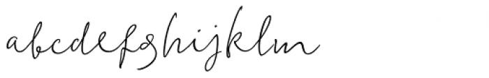 Kalli Hand Regular Font LOWERCASE