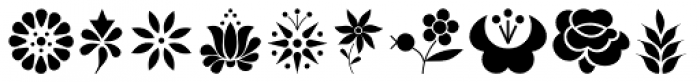 Kalocsai Flowers Pi Font UPPERCASE