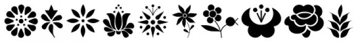 Kalocsai Flowers Pi Font LOWERCASE
