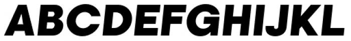 Kamerik 105 Heavy Oblique Font UPPERCASE