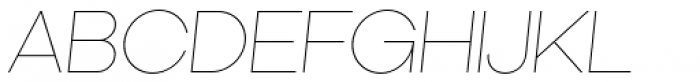 Kamerik 105 Thin Oblique Font UPPERCASE