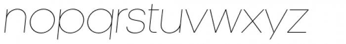 Kamerik 105 Thin Oblique Font LOWERCASE