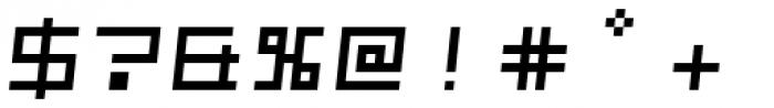 Kampen Block Oblique Font OTHER CHARS
