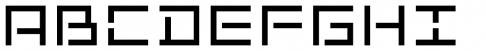Kampen Block Stencil Font UPPERCASE