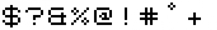 Kampen Pixel Font OTHER CHARS