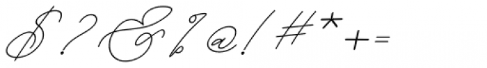 Kanaggawa Thin Italic Font OTHER CHARS