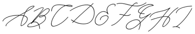 Kanaggawa Thin Italic Font UPPERCASE