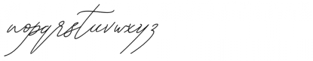 Kanaggawa Thin Italic Font LOWERCASE