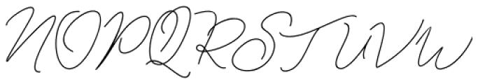 Kanaggawa Thin Font UPPERCASE