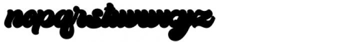 Kandani Extrude Font LOWERCASE