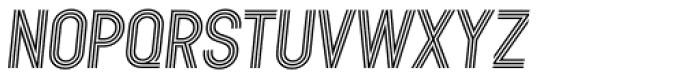 Kandel 105 Medium Oblique Font UPPERCASE