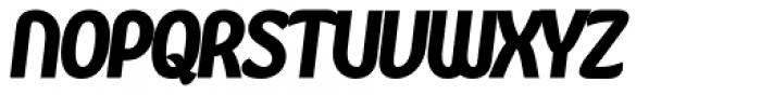 Kandira Alt Extra Black Italic Font UPPERCASE