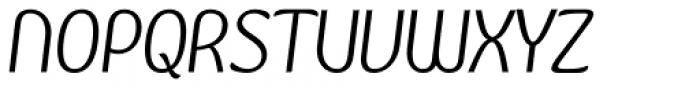 Kandira Alt Light Italic Font UPPERCASE