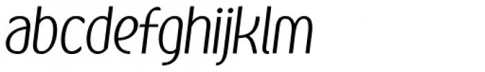 Kandira Alt Light Italic Font LOWERCASE