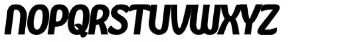 Kandira Extra Black Italic Font UPPERCASE