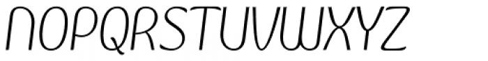 Kandira Extra Light Italic Font UPPERCASE