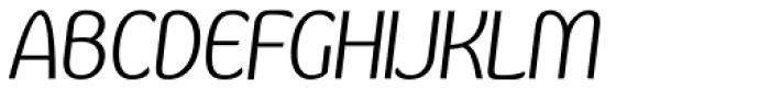 Kandira Light Italic Font UPPERCASE