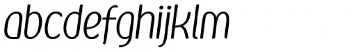Kandira Light Italic Font LOWERCASE