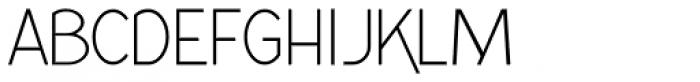 Kaodai Light Font UPPERCASE