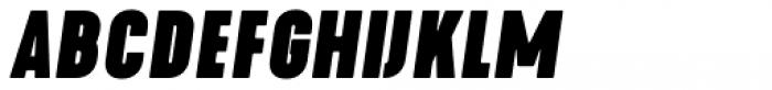 Kapra Neue Black Condensed Italic Font UPPERCASE