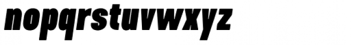 Kapra Neue Black Condensed Italic Font LOWERCASE