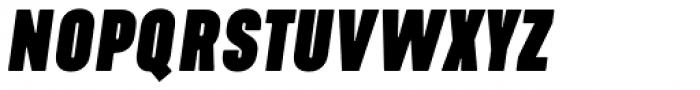 Kapra Neue Pro Black Italic Condensed Rounded Font UPPERCASE