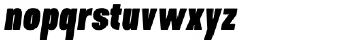 Kapra Neue Pro Black Italic Condensed Rounded Font LOWERCASE