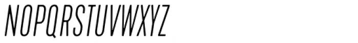 Kapra Neue Pro Thin Italic Condensed Rounded Font UPPERCASE