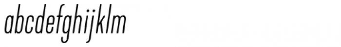 Kapra Neue Pro Thin Italic Condensed Rounded Font LOWERCASE