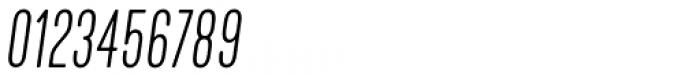 Kapra Neue Thin Condensed Italic Font OTHER CHARS