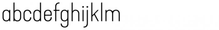 Kapra Neue Thin Expanded Font LOWERCASE