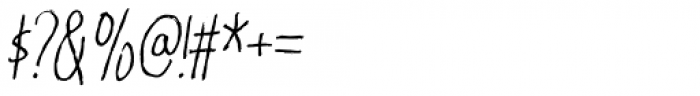 Karamboule Italic Font OTHER CHARS