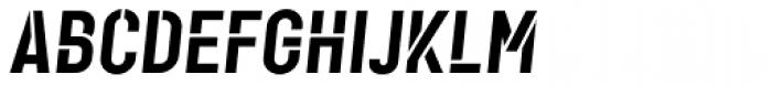 Karben 105 Stencil Black Oblique Font UPPERCASE