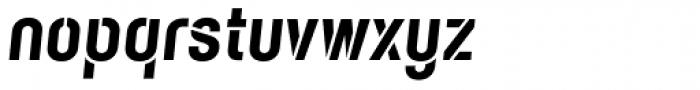 Karben 105 Stencil Black Oblique Font LOWERCASE