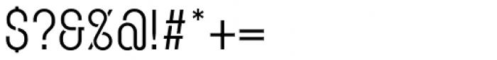 Karben 105 Stencil Regular Font OTHER CHARS