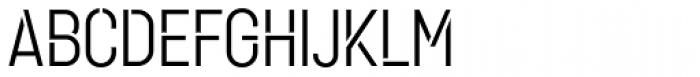 Karben 105 Stencil Regular Font UPPERCASE