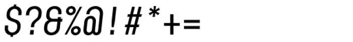 Karben 205 Mono Medium Oblique Font OTHER CHARS