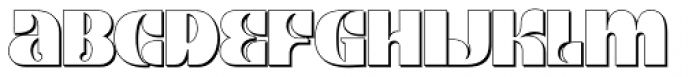 Kare Shadow Font LOWERCASE