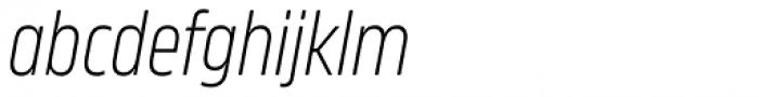 Karibu Narrow Light Italic Font LOWERCASE