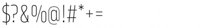 Karibu Narrow Thin Font OTHER CHARS