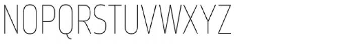 Karibu Narrow Ultra Thin Font UPPERCASE