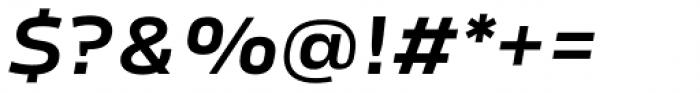 Karibu Wide Demi Bold Italic Font OTHER CHARS