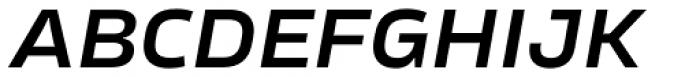 Karibu Wide Demi Bold Italic Font UPPERCASE