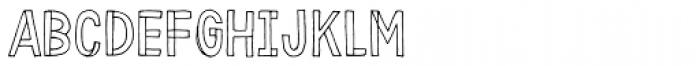 Karisans Open B Font UPPERCASE