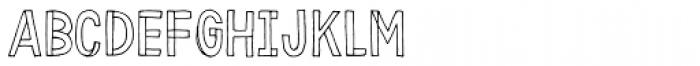 Karisans Open B Font LOWERCASE
