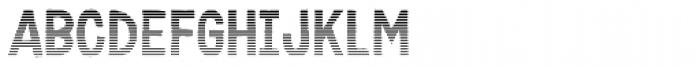 Karisans Stripes A Font UPPERCASE