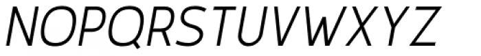 Karlsen Light Italic Font UPPERCASE