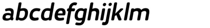 Karlsen Round Semi Bold Italic Font LOWERCASE
