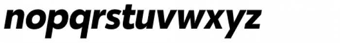 Karu Bold Italic Font LOWERCASE